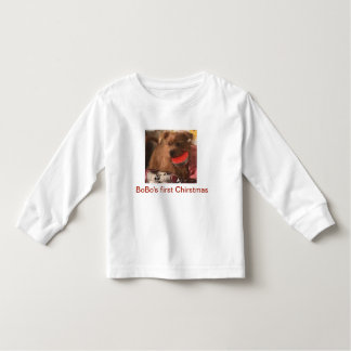 BoBo's Firdt Ghristmas Toddler Long Sleeve T-Shirt