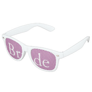Bodacious Orchid Lilac with White Wedding Detail Retro Sunglasses