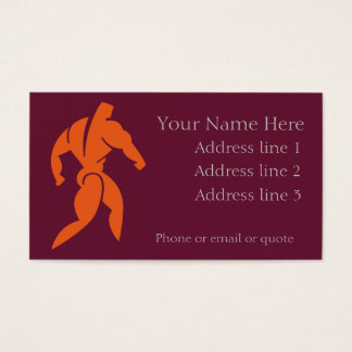 Body Builder Business Card Red
