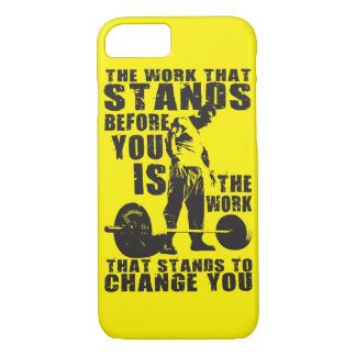 """""""Body building"""" Workout Motivational iPhone 8/7 Case"""