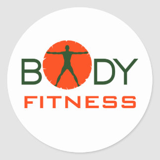 Body Madness Fitness Custom Round Stickers Stickers