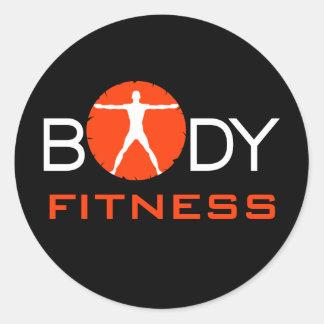 Body Madness Fitness Custom Round Stickers Round Sticker