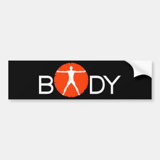 Body Madness Fitness Vitruvian Man Bumper Stickers