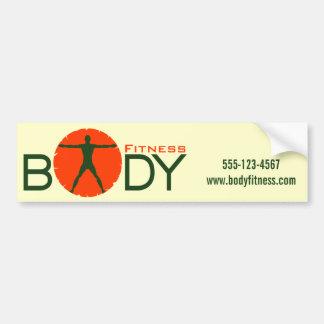 Body Madness Gym Fitness Instructor Bumper Sticker