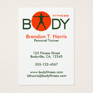 Body Madness Personal Trainer Large Business Cards