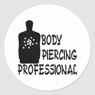 Body Piercing Professional Round Sticker