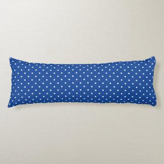 Body Pillow - Cobalt Blue Polka Dot