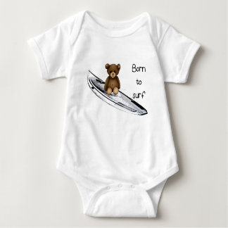 """Bodystocking white baby """"Born to surfing"""" with Baby Bodysuit"""