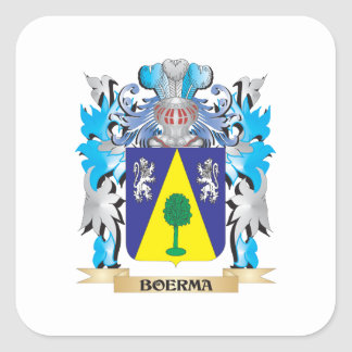 Boerma Coat of Arms Square Stickers