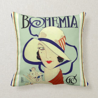 Bohemia Art Deco Throw Pillow