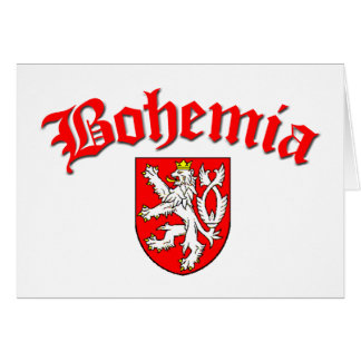 Bohemia Flag 1 (w/inscription) Card
