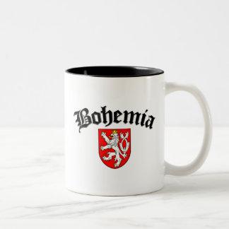 Bohemia Flag 2 Two-Tone Coffee Mug