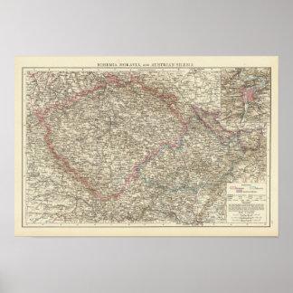 Bohemia, Moravia, Austrian Silesia 2 Poster