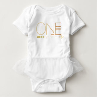 Bohemian Chic One | Tribal Gold Foil Baby Bodysuit