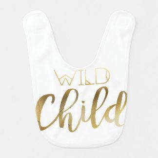 Bohemian Chic Wild Child | Tribal Gold Foil Bibs