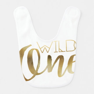 Bohemian Chic Wild One | Tribal Gold Foil Bibs