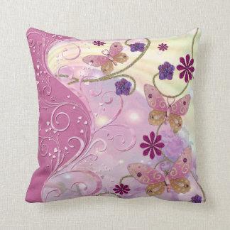 Bohemian Fairy Tale Folk Art Jeweled Throw Cushions