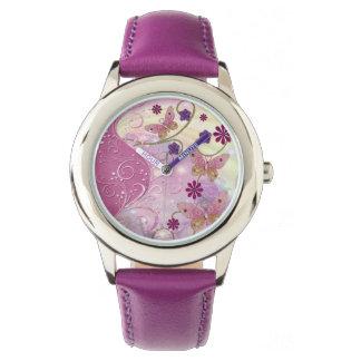 Bohemian Fairy Tale Folk Art Jeweled Watch