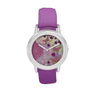 Bohemian Fairy Tale Folk Art Jeweled Wristwatch