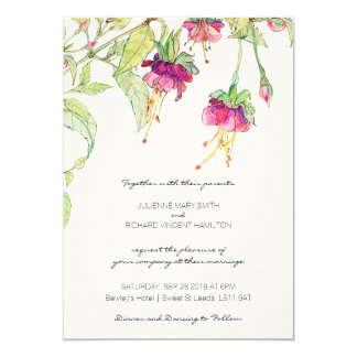 Bohemian Garden | Floral Wedding Invitations