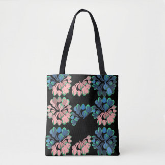 Bohemian midnight garden print tote bag
