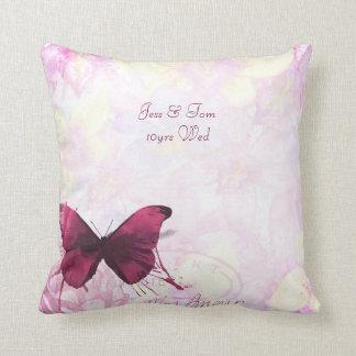 Bohemian named wedding or anniversary keepsake cushion