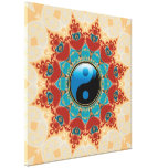 Bohemian Spirit Yin Yang Wrapped Canvas Stretched Canvas Prints