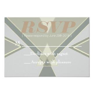 Bohemian Tribal | Pastel Blue Grey | RSVP Card