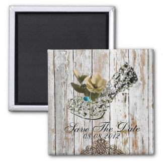 boho chic barn wood rustic country wedding magnet