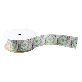 boho chic french country lavender vintage bee satin ribbon