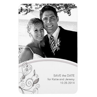 BOHO Chic Photo Save the Date Taupe Budget Magnet