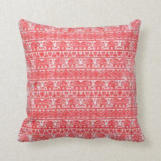 Boho ethnic elephant pattern cushion