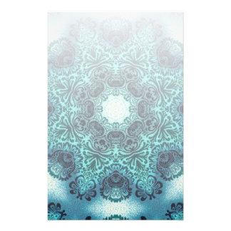 Boho floral paisley turquoise teal mandala henna stationery