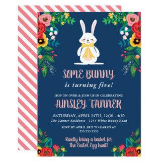 Boho Florals & Bunny | Colourful Kids Birthday Card