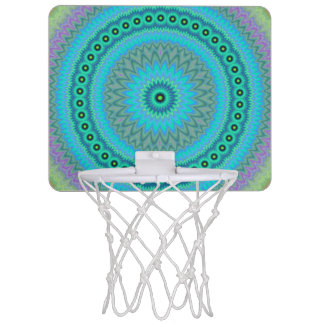 Boho flower mini basketball hoop