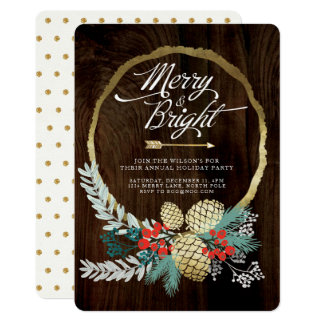 Boho Holiday Party Invitation