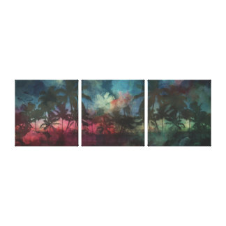 Boho Home 3-panel Graphic Art Canvas Prints