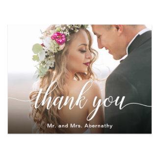 Boho Inspired Wedding Photo Thank You Postcard