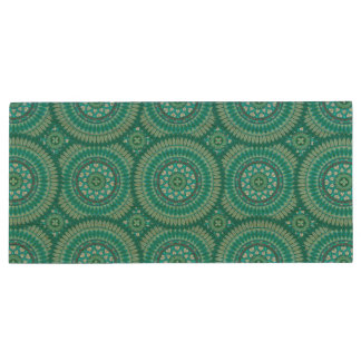 Boho mandala abstract pattern design wood USB 2.0 flash drive