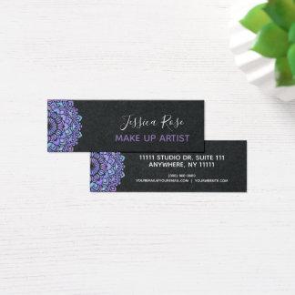 Boho Purple Mandala Make Up Artist Mini Business Card