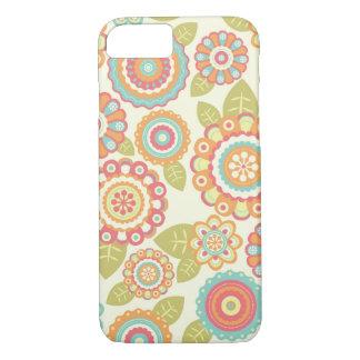 Boho Retro Funky Flowers Floral Pattern (Cream) iPhone 8/7 Case