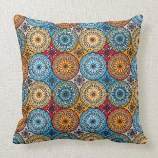 Boho Rosette Throw Pillow
