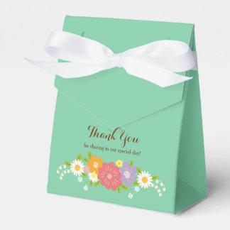 Boho Rustic Floral Wreath Wedding (Mint) Favour Boxes