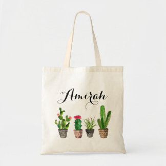 Boho Watercolor Succulents Personalised Canvas