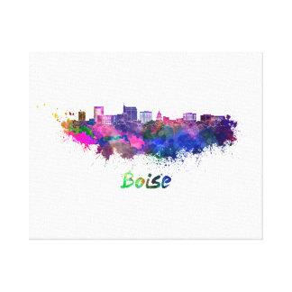 Boise City skyline in watercolor Canvas Print