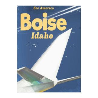 Boise Idaho flight poster Canvas Print