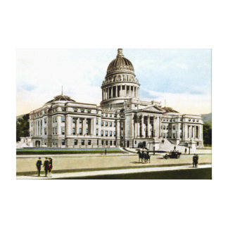 Boise Idaho State Capitol Building Circa 1913 Canvas Print