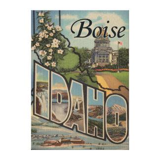 Boise, IdahoLarge Letter ScenesBoise, ID Canvas Print