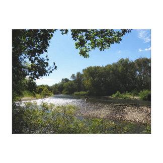Boise River Canvas Print