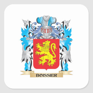Boissier Coat of Arms Square Stickers